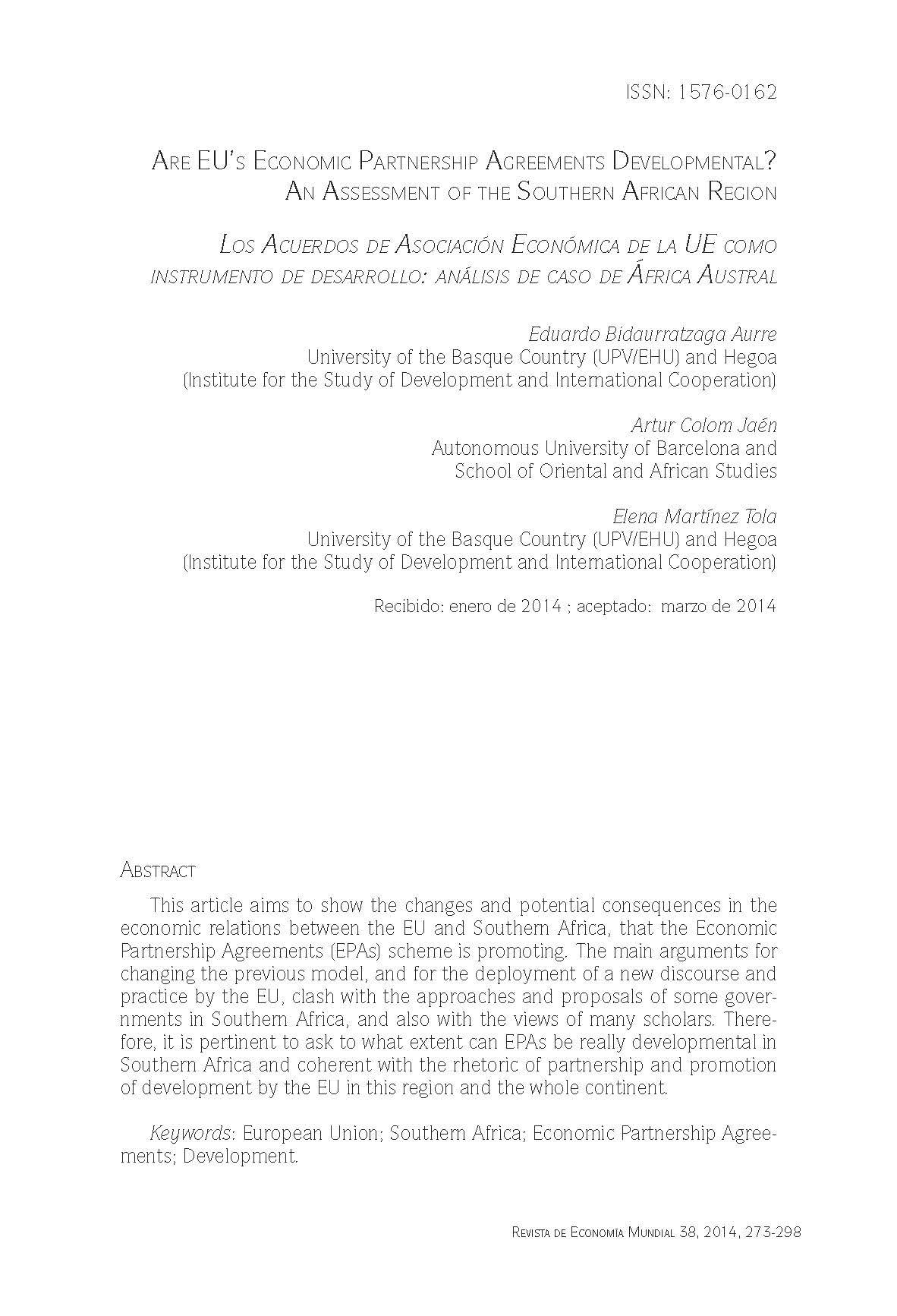 Are Eus Economic Partnership Agreements Developmental An