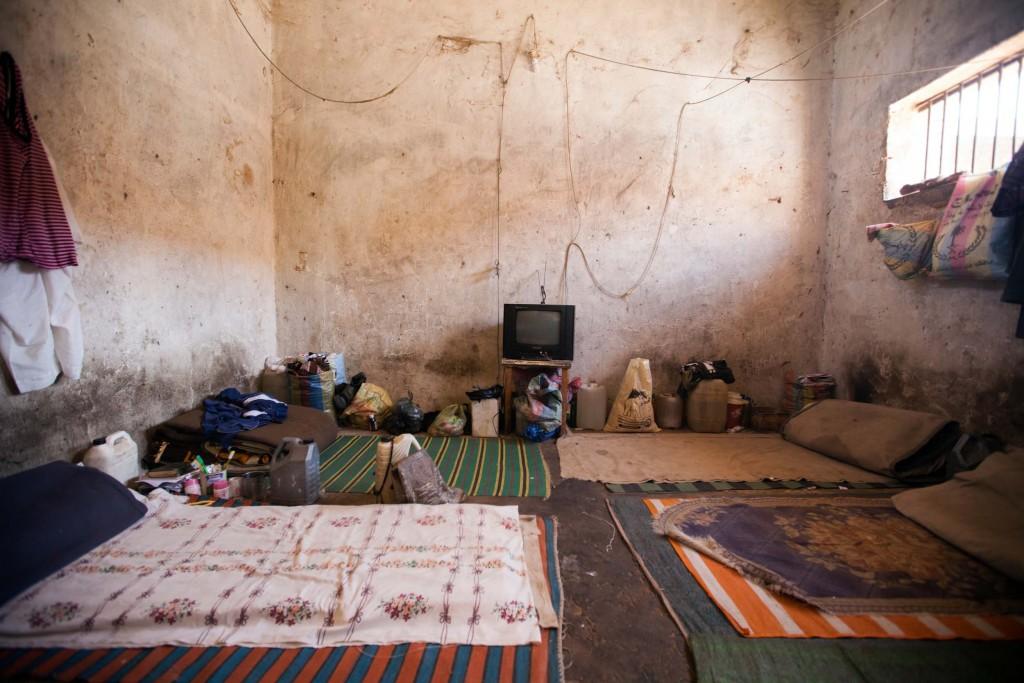 Celda de la prisión de Zalingeu en Darfur